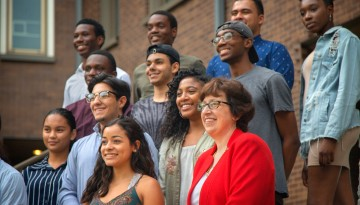 Martha Pollack with students