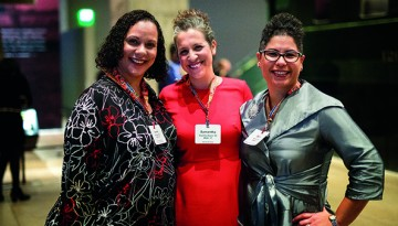 From left, Neoma Mullens '98, Samantha Castillo-Davis '00 and Sara Hernandez, MRP '07
