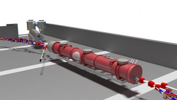 Artist's rendering of the main accelerator components