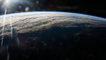 A view of clouds over Earth from orbit