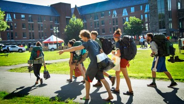 Students moving in on West Campus.