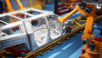 car manufacturing with AI arm