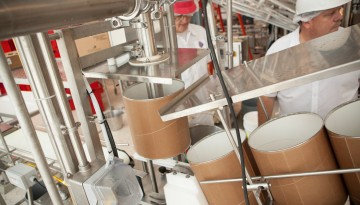 Ice cream production at the Cornell Dairy Processing Plant