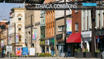 Ithaca Commons entrance