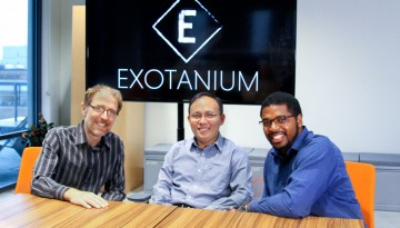 From left, Exotanium co-founders Robbert van Renesse, professor of computer science; postdoctoral researcher Zhiming Shen, Ph.D. '17; and Hakim Weatherspoon, associate professor of computer science.