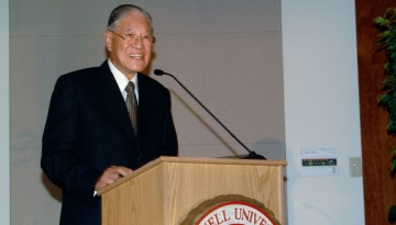 Lee Teng-hui at Cornell in 2001