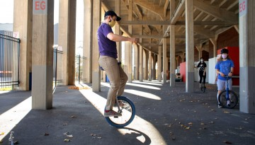 Unicycling instructor