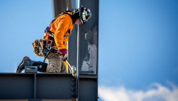 Worker on NCRE beam