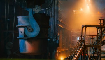 inside steel manufacturing plant