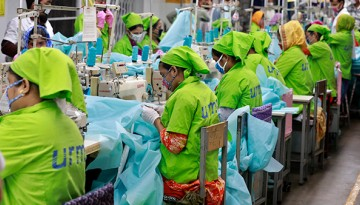 Garment workers in an Indonesian factory.