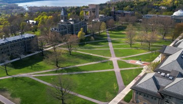 Aerial of Arts Quad