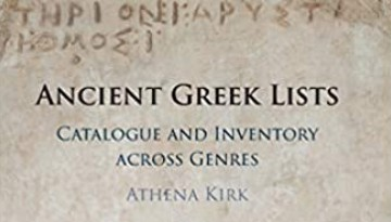 Book cover: Ancient Greek Lists