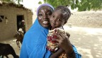 Niger woman and child