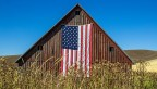 Barn with U.S. flag